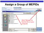 assign a group of mepids10