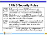 epims security roles