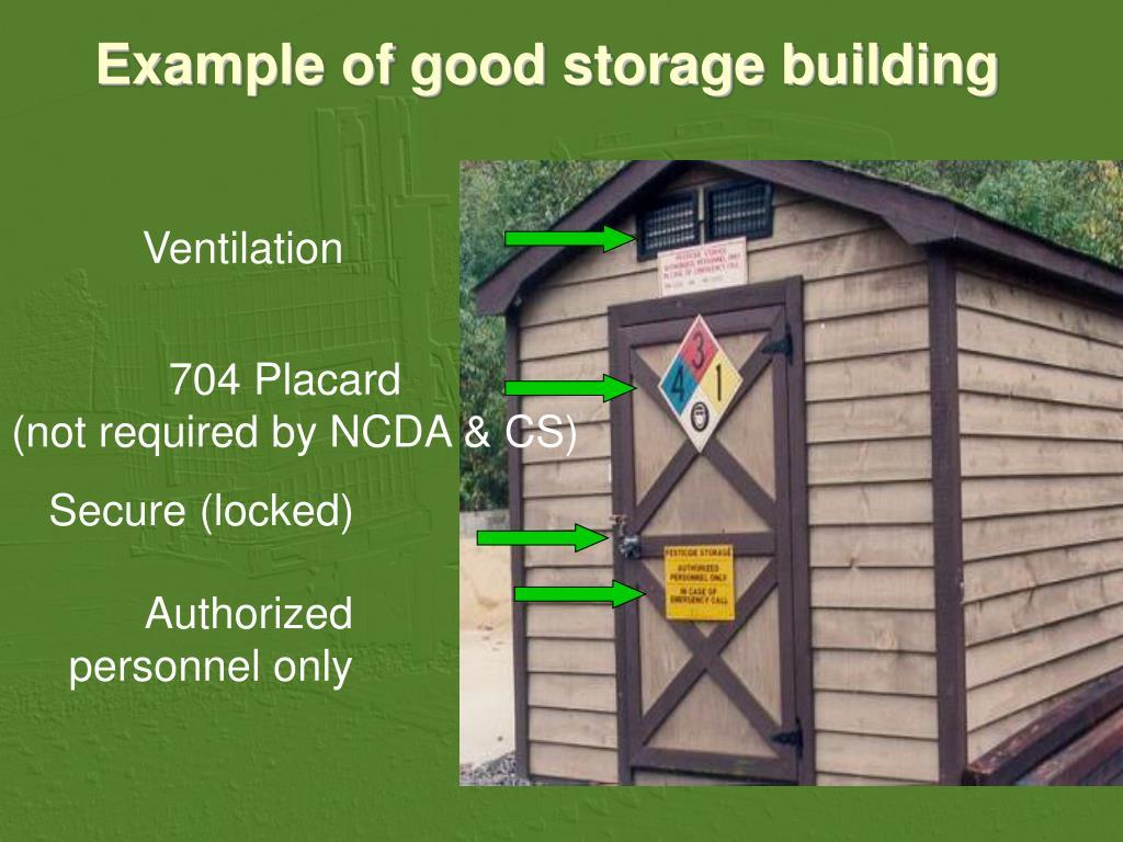 Example of good storage building