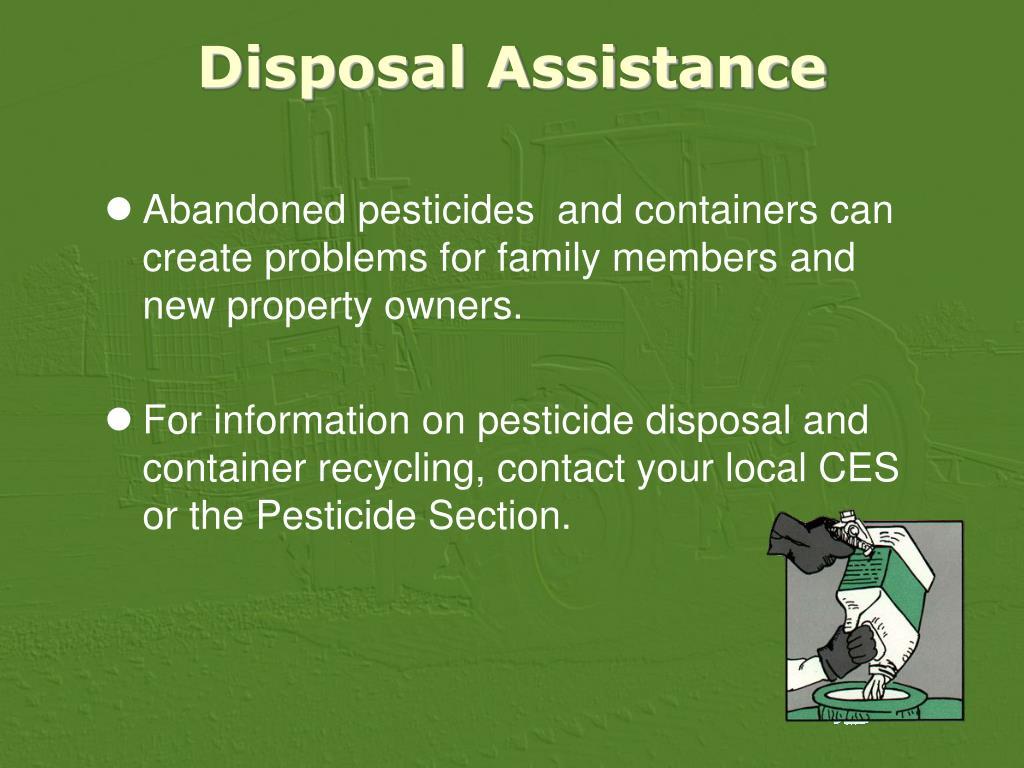 Disposal Assistance