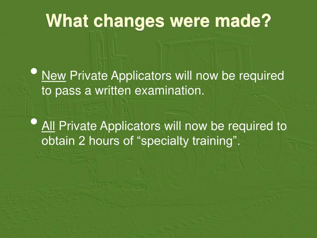 What changes were made?