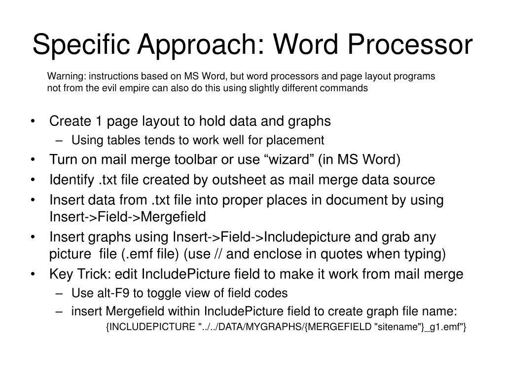 Specific Approach: Word Processor