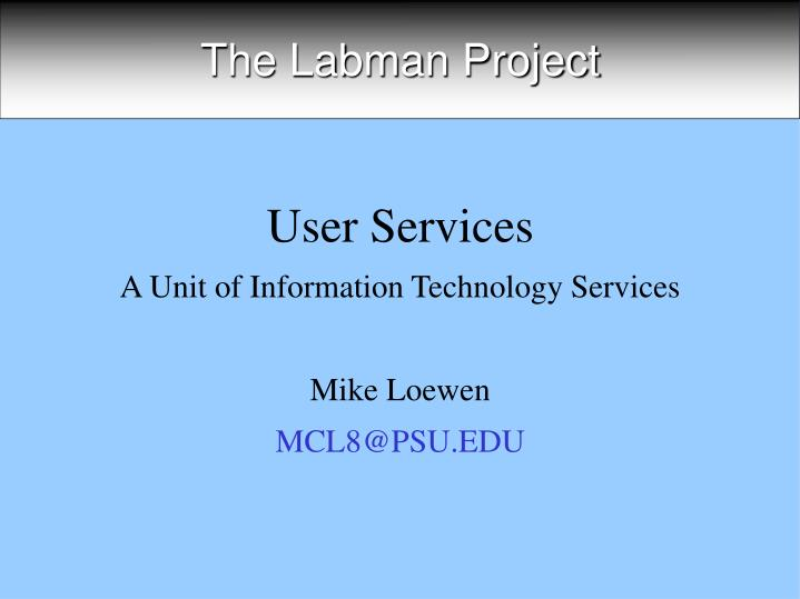 the labman project n.