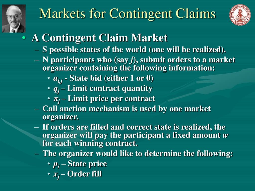Markets for Contingent Claims