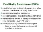 food quality protection act fqpa