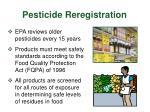 pesticide reregistration