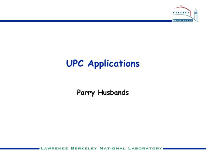 upc applications n.