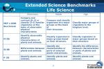 extended science benchmarks life science