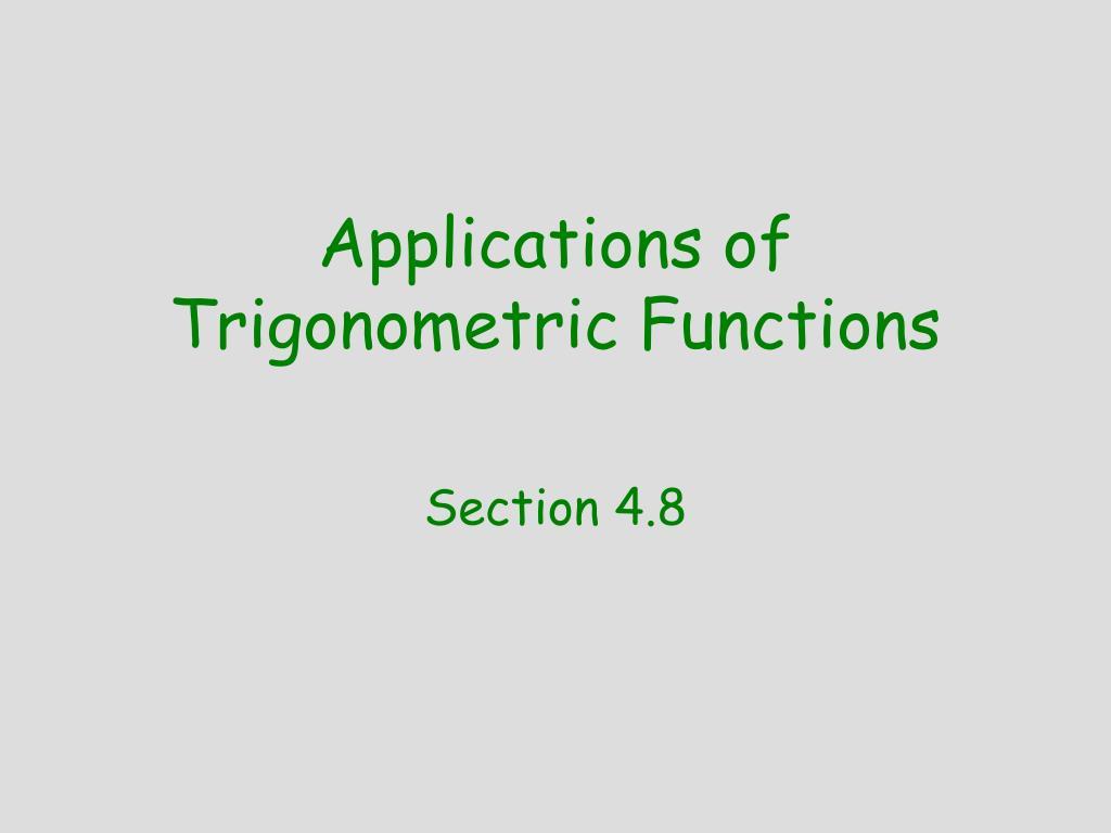applications of trigonometric functions l.