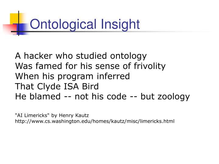 Ontological insight