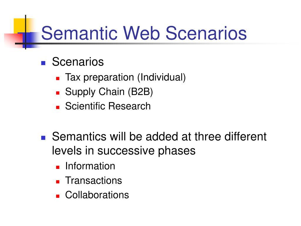 Semantic Web Scenarios