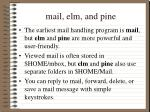 mail elm and pine