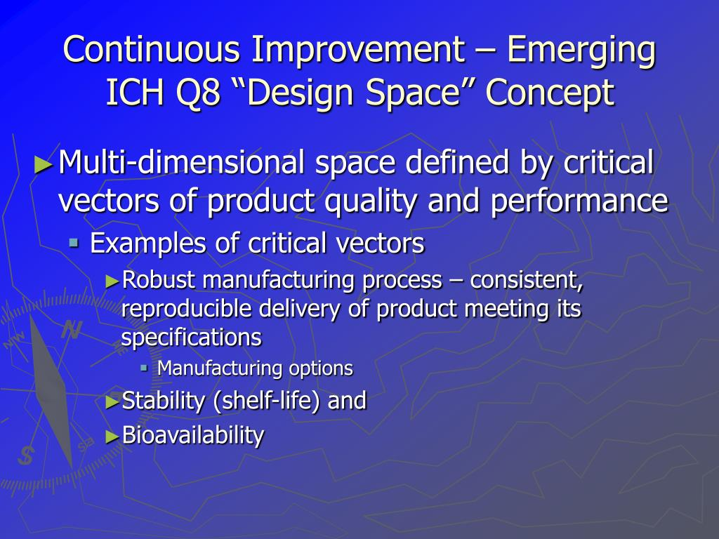 "Continuous Improvement – Emerging ICH Q8 ""Design Space"" Concept"
