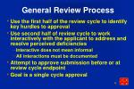 general review process