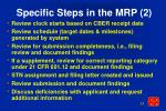 specific steps in the mrp 2