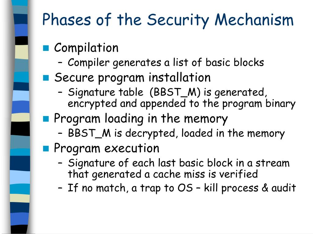Phases of the Security Mechanism