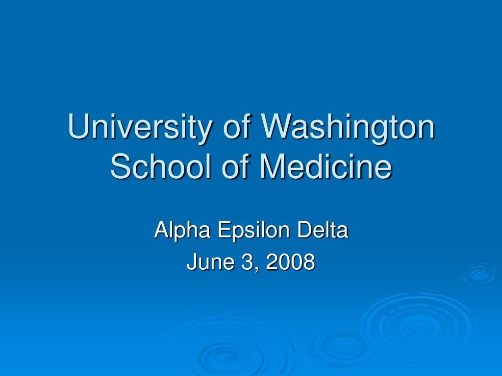 university of washington school of medicine l.