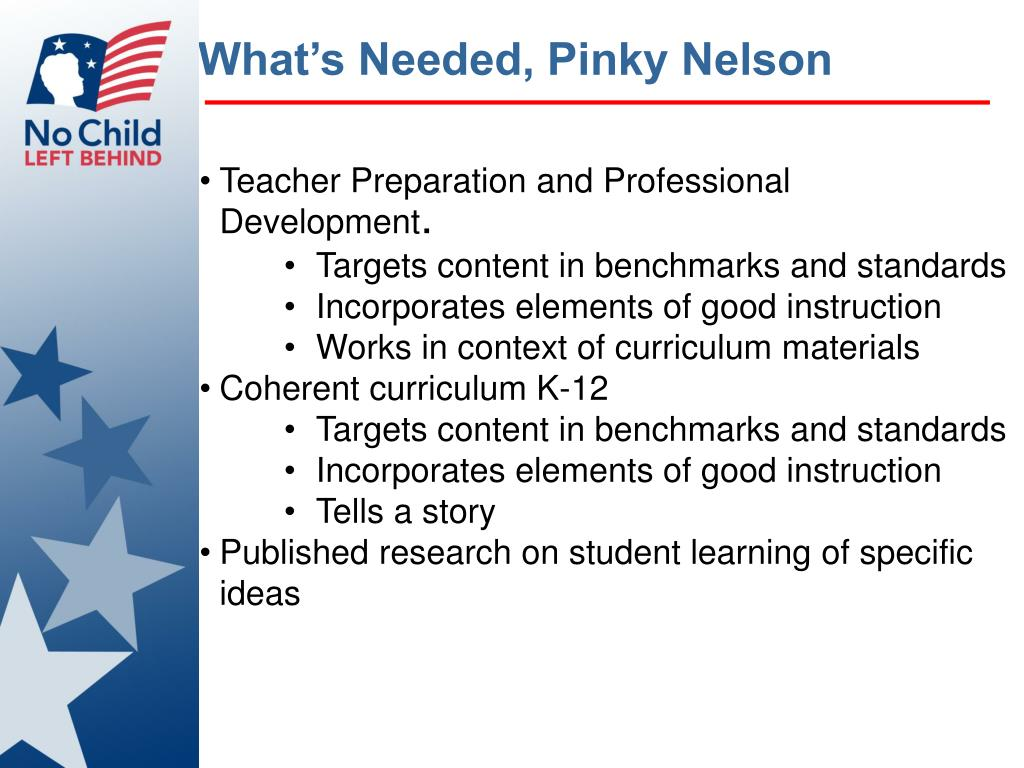 What's Needed, Pinky Nelson