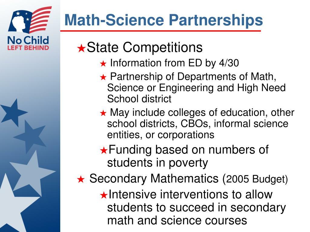 Math-Science Partnerships