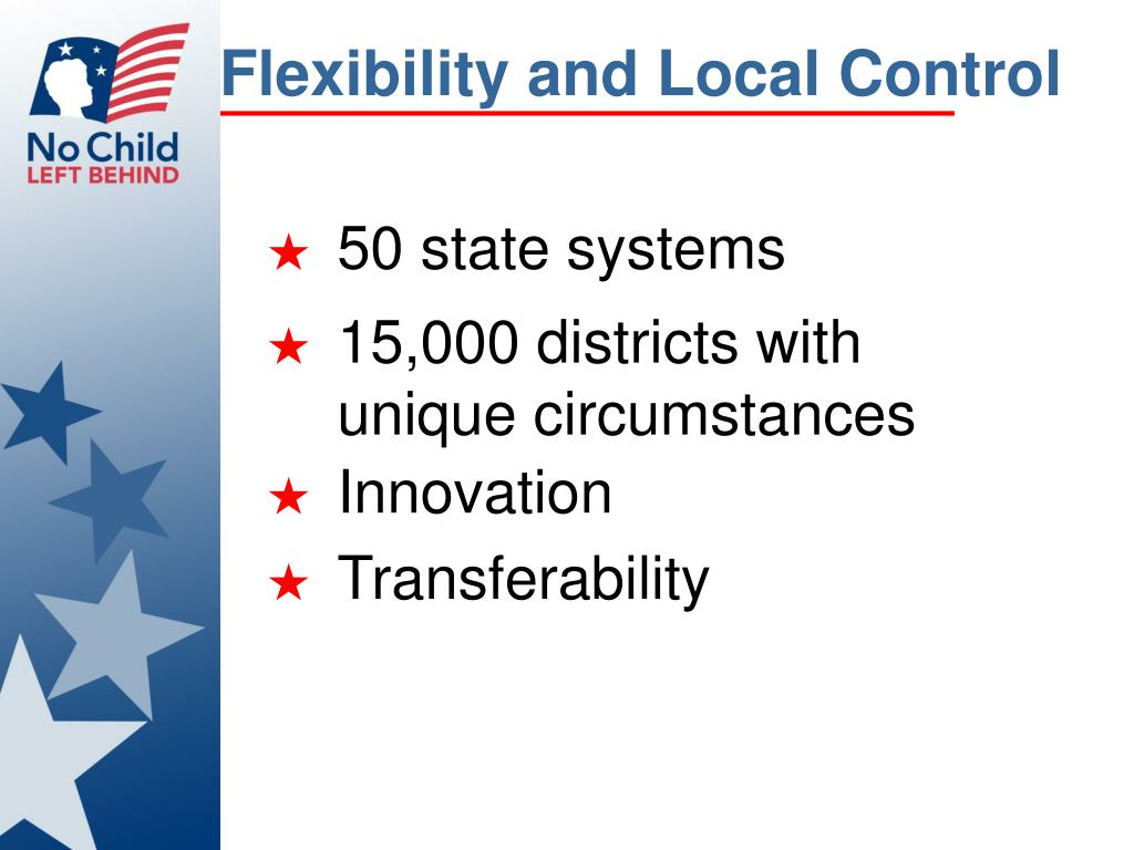 Flexibility and Local Control