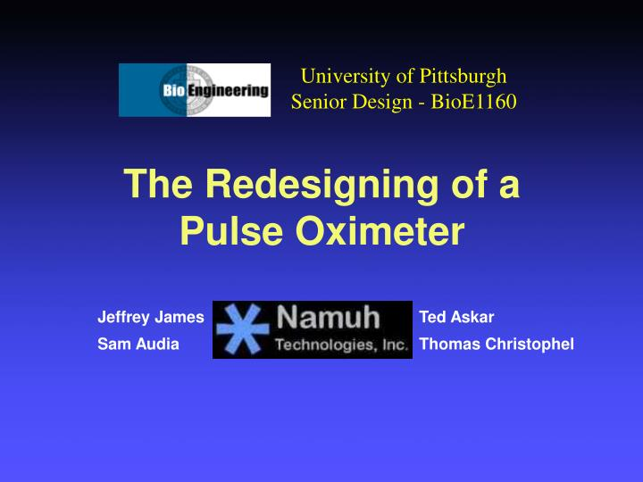 the redesigning of a pulse oximeter n.