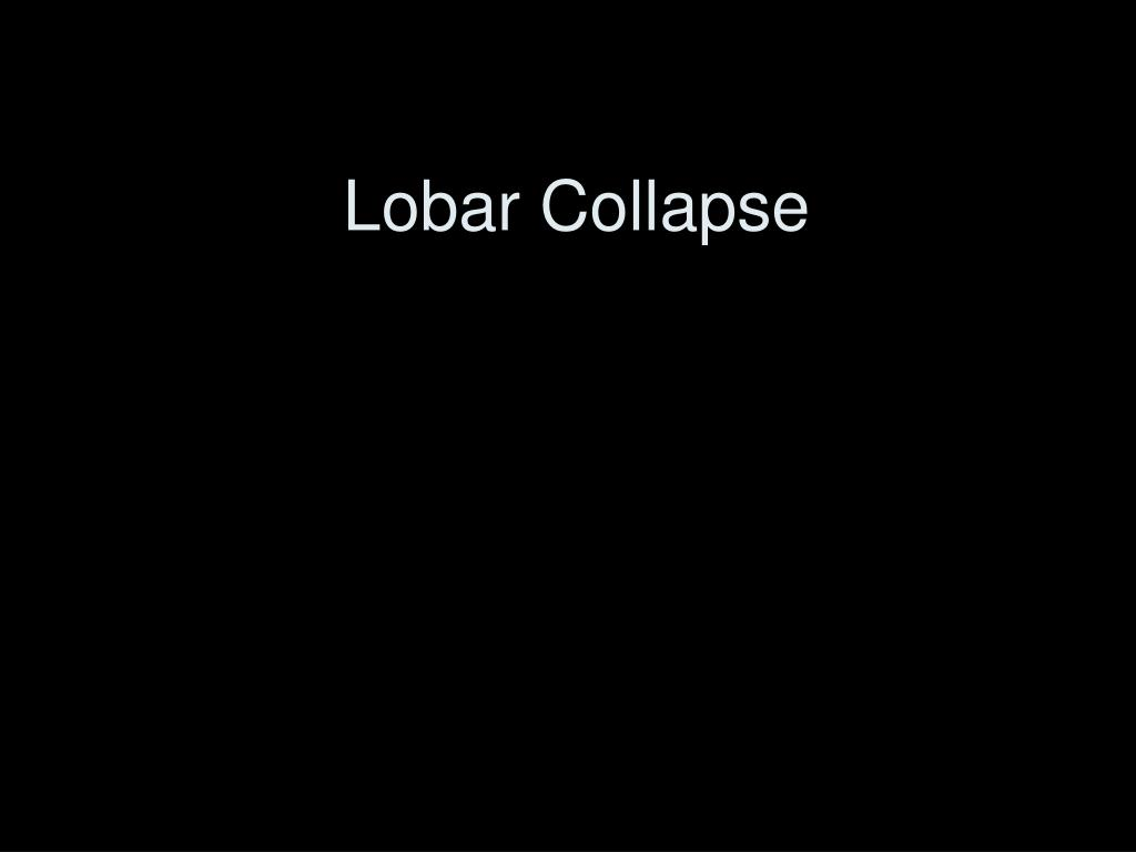 lobar collapse l.