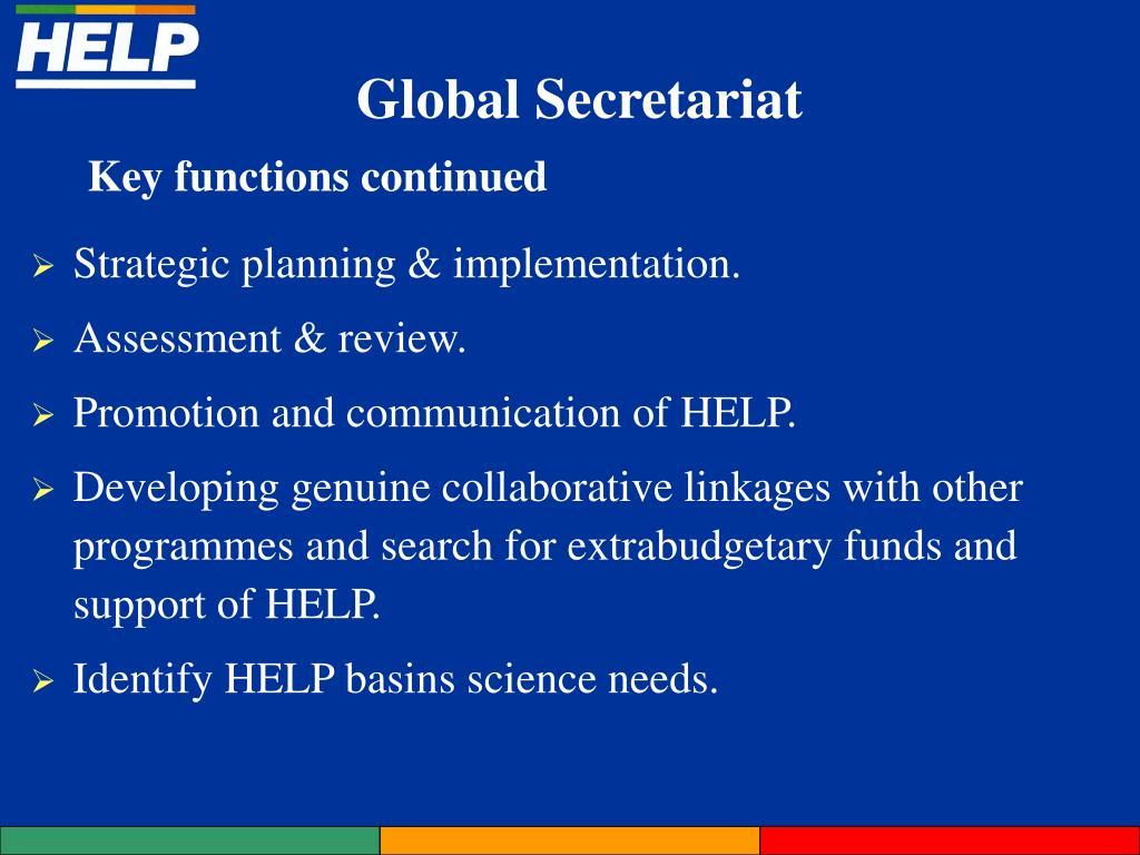 Strategic planning & implementation.