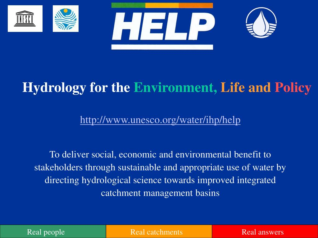 hydrology for the environment life and policy l.