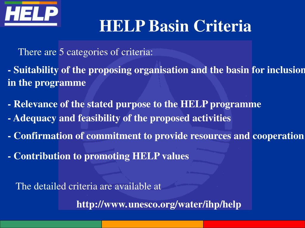HELP Basin Criteria