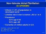 non valvular atrial fibrillation an epidemic