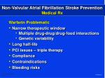 non valvular atrial fibrillation stroke prevention medical rx6