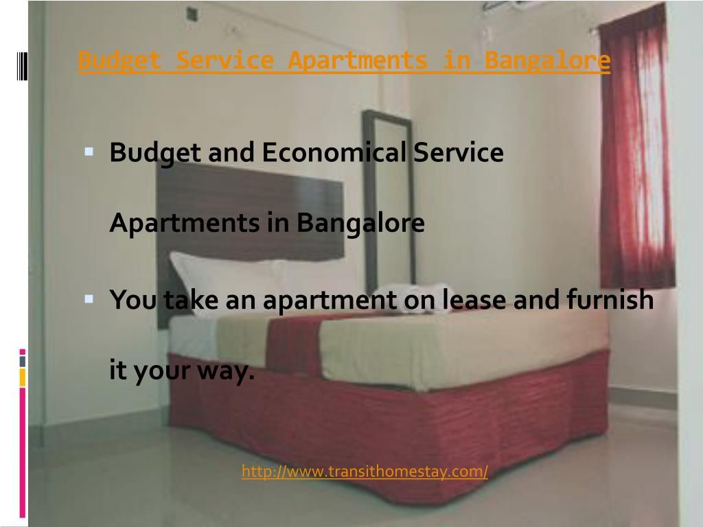 Budget Service Apartments in Bangalore