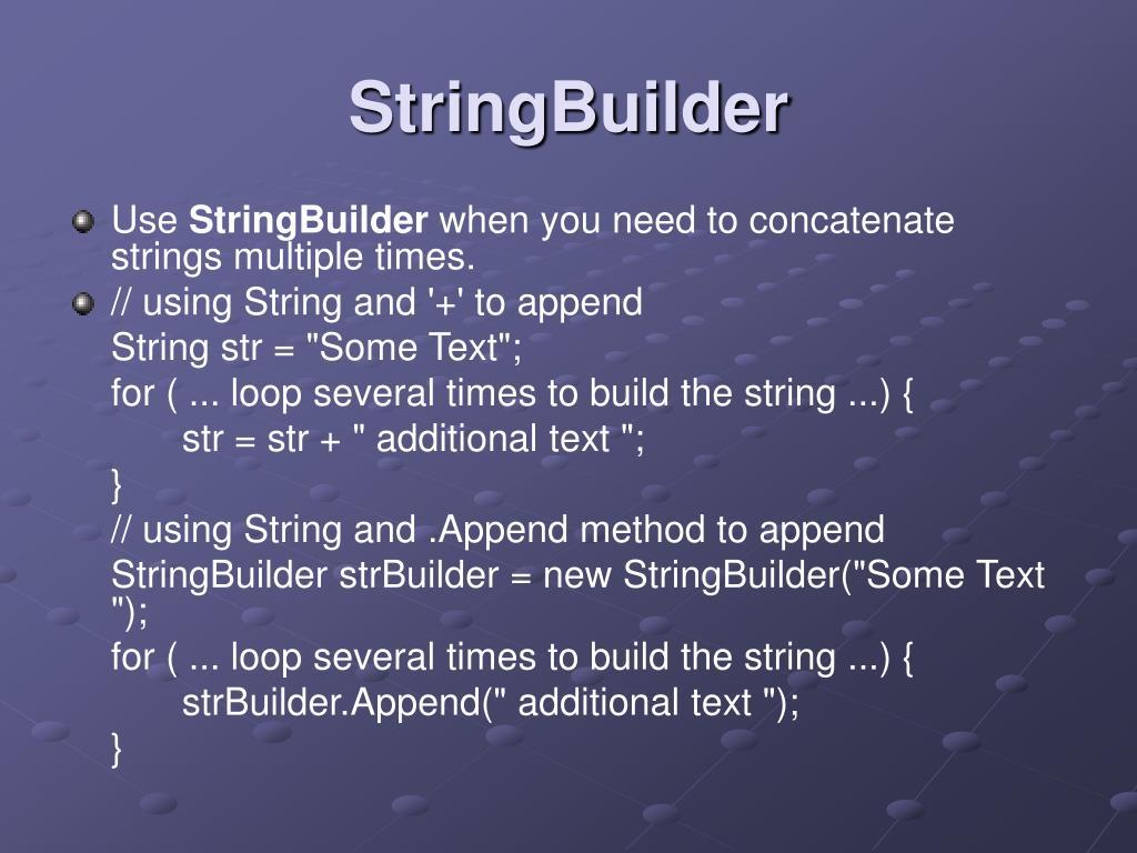 StringBuilder