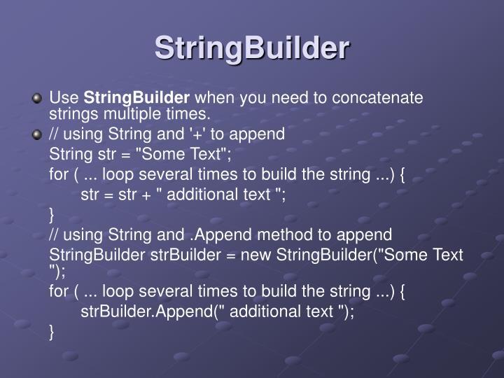 Stringbuilder3