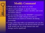 modify command