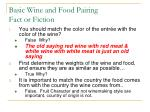 basic wine and food pairing fact or fiction
