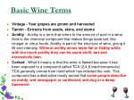 basic wine terms