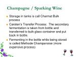 champagne sparking wine