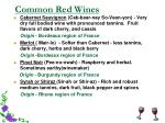 common red wines