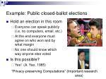 example public closed ballot elections