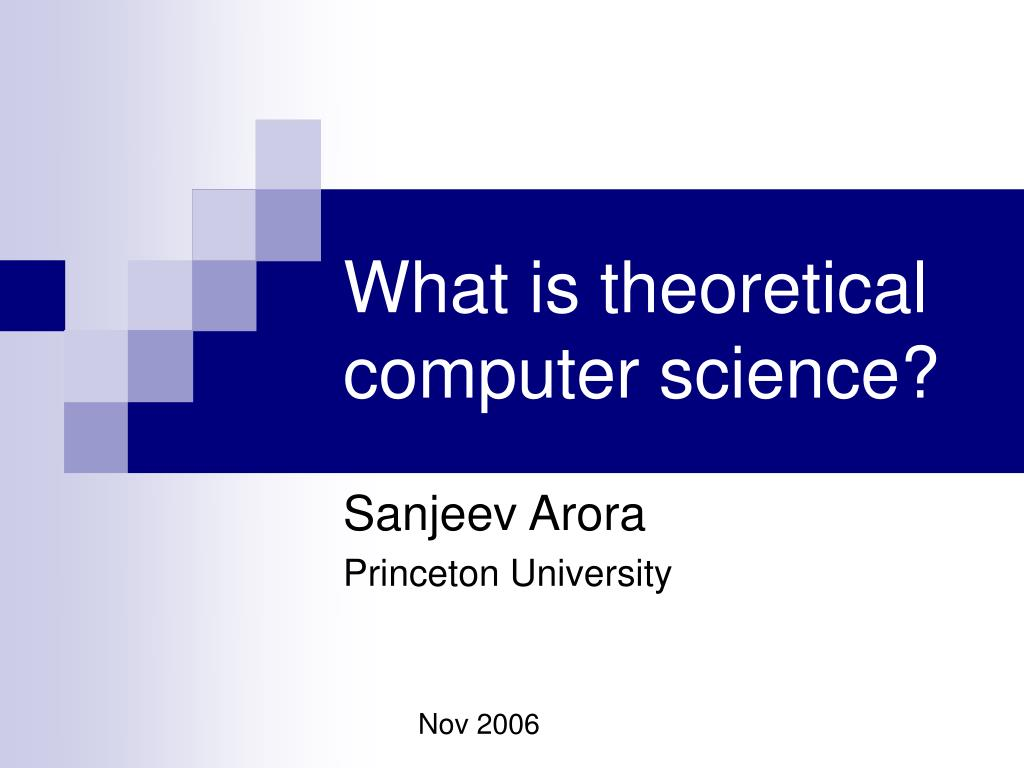 what is theoretical computer science l.