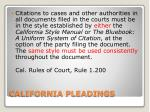 california pleadings