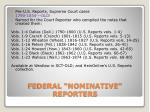 federal nominative reporters