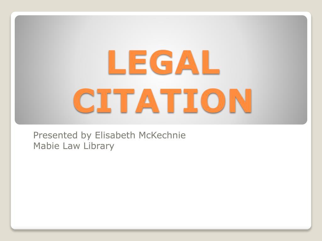legal citation l.