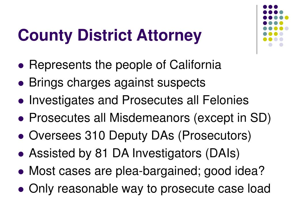 County District Attorney
