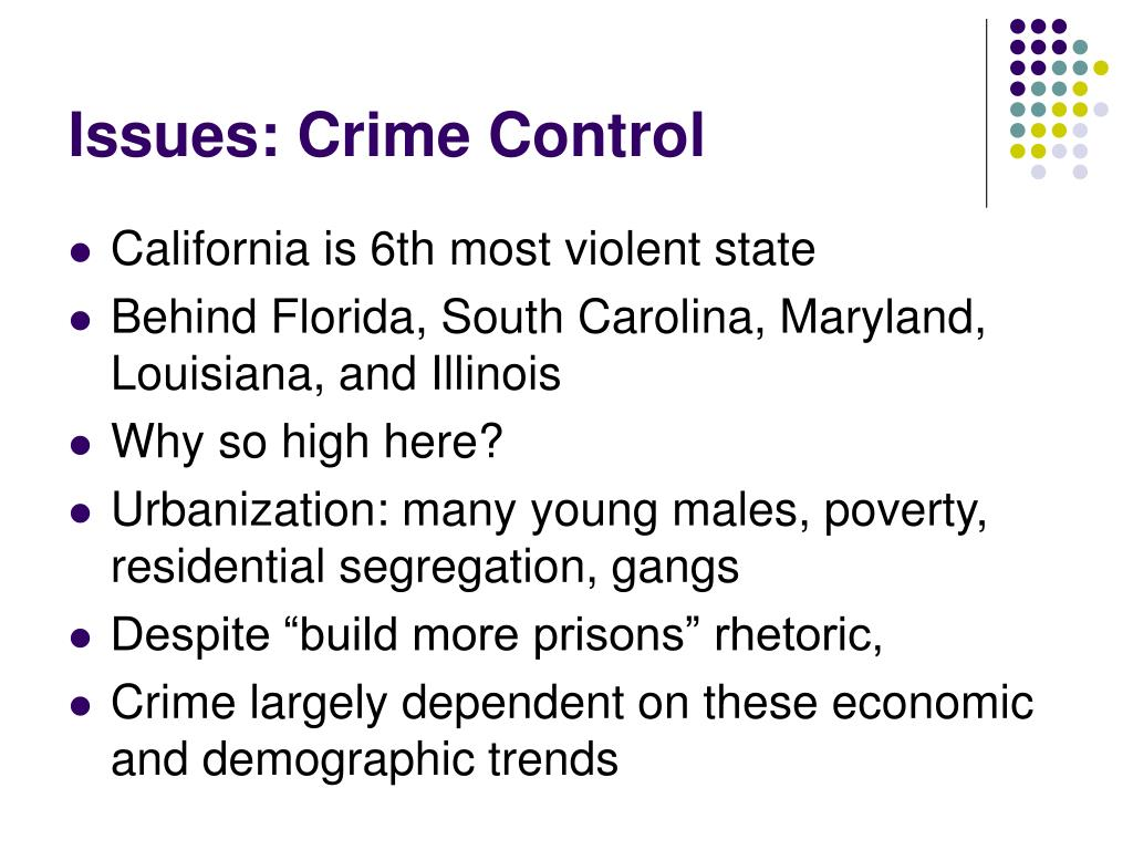 Issues: Crime Control