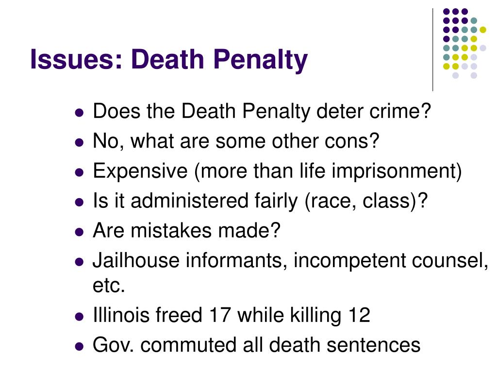 Issues: Death Penalty