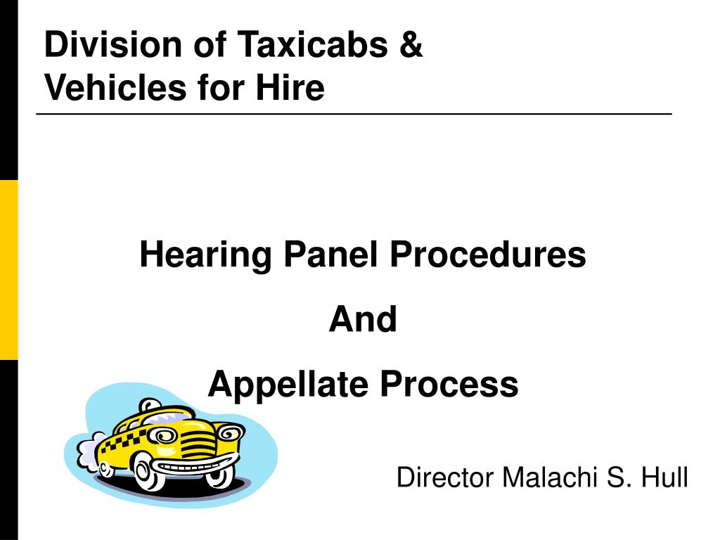 division of taxicabs vehicles for hire l.