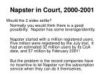 napster in court 2000 200114
