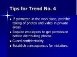 tips for trend no 4